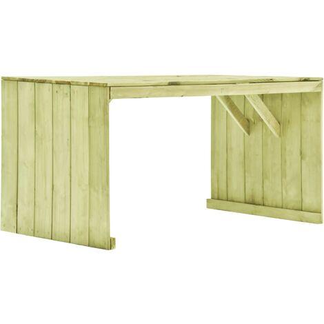 vidaXL Garden Table 150x87x80 cm Impregnated Pinewood - Green