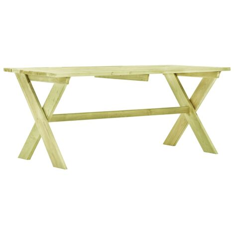 vidaXL Garden Table 170x73x70 cm Impregnated Pinewood - Green