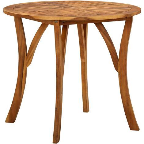 vidaXL Garden Table Ø 85 cm Solid Acacia Wood - Brown