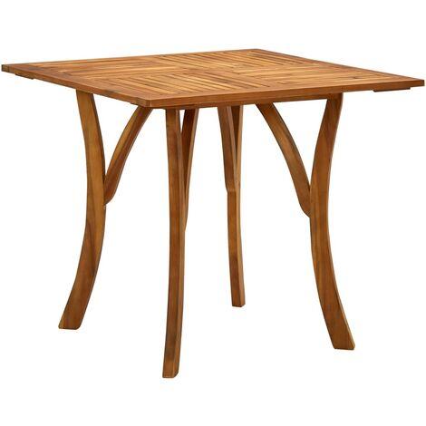 vidaXL Garden Table 85x85x75 cm Solid Acacia Wood - Brown