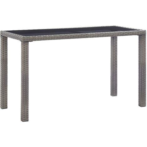 vidaXL Garden Table Anthracite 123x60x74 cm Poly Rattan - Anthracite