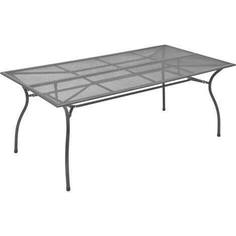 vidaXL Garden Table Anthracite 170x89.5x72.5 cm Steel Mesh - Anthracite