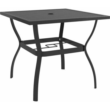 vidaXL Garden Table Anthracite 81.5x81.5x72 cm Steel - Anthracite