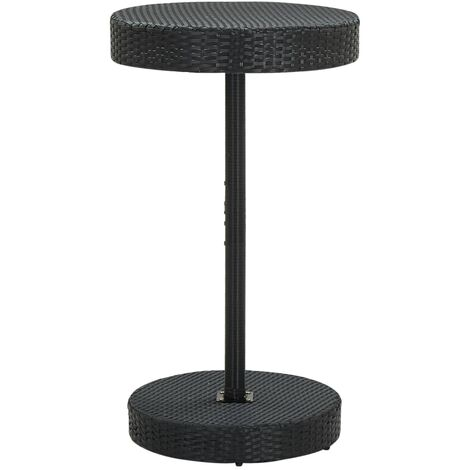 vidaXL Garden Table Black 60.5x106 cm Poly Rattan - Black