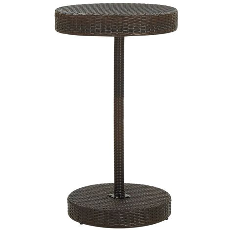 vidaXL Garden Table Brown 60.5x106 cm Poly Rattan - Brown
