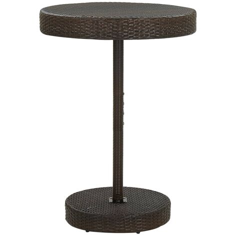 vidaXL Garden Table Brown 75.5x106 cm Poly Rattan - Brown