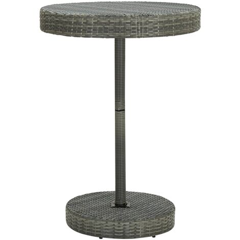 vidaXL Garden Table Grey 75.5x106 cm Poly Rattan - Grey
