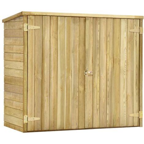 vidaXL Garden Tool Shed 135x60x123 cm Impregnated Pinewood - Brown