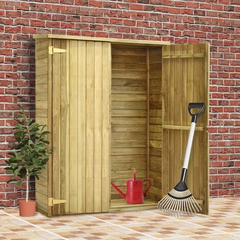 """main image of """"vidaXL Impregnated Pinewood Garden Tool Shed Outdoor Lawn Garden Wooden Storage Shed Garage Carport Too Organiser House Multi Sizes"""""""