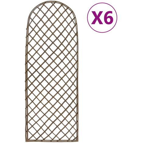 "main image of ""vidaXL Garden Trellises 6 pcs 30x120 cm Willow - Brown"""