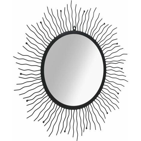"main image of ""vidaXL Garden Wall Mirror Sunburst Black Outdoor Window Illusion 60cm/80cm"""