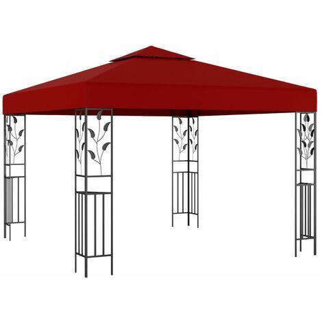 vidaXL Gazebo 3x3 m Wine Red - Red