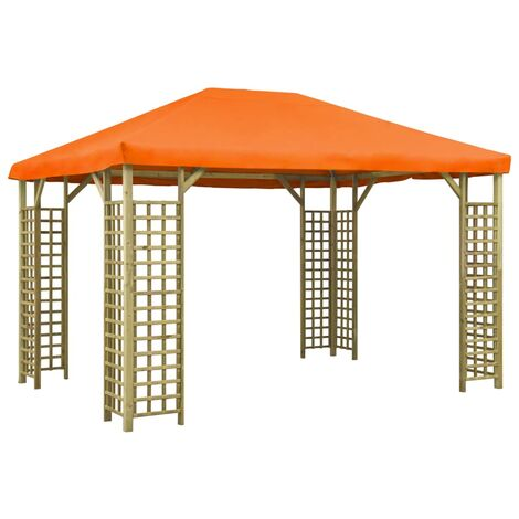 vidaXL Gazebo 4x3 m Orange - Orange