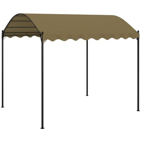 vidaXL Gazebo 4x3x2.6 m Taupe 180 g/m² - Taupe