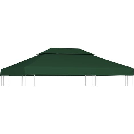 vidaXL Gazebo Cover Canopy Replacement 310 g / m² Green 3 x 4 m - Green