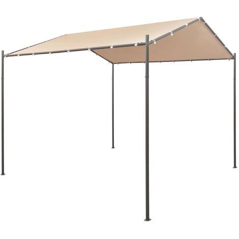 vidaXL Gazebo Pavilion Tent Canopy 3x3 m Steel Beige - Beige