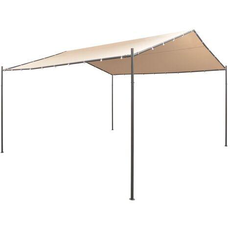 vidaXL Gazebo Pavilion Tent Canopy 4x4 m Steel Beige - Beige