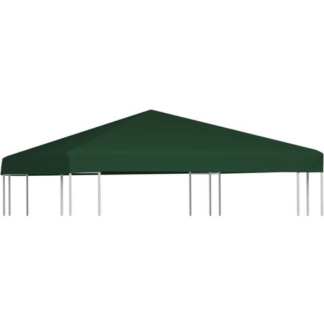 vidaXL Gazebo Top Cover 310 g/m² 3x3 m Green - Green