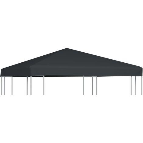 vidaXL Gazebo Top Cover 310 g/m² 3x3 m Grey - Grey