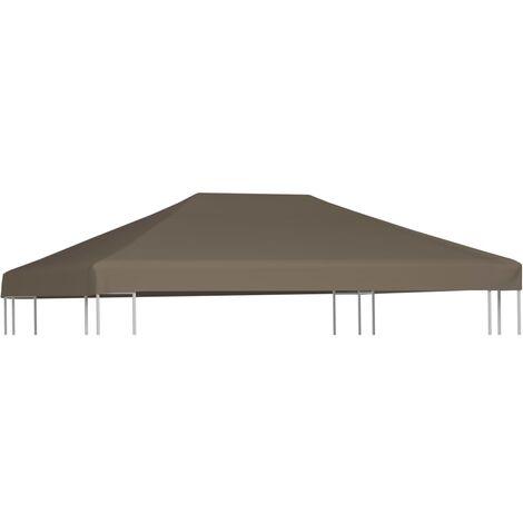 vidaXL Gazebo Top Cover 310 g/m² 3x3 m Taupe - Brown