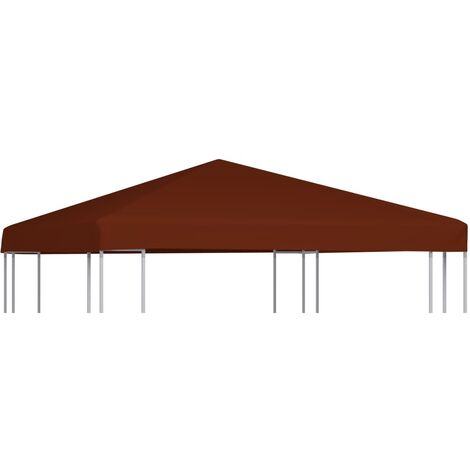 vidaXL Gazebo Top Cover 310 g/m² 3x3 m Taupe - Brown