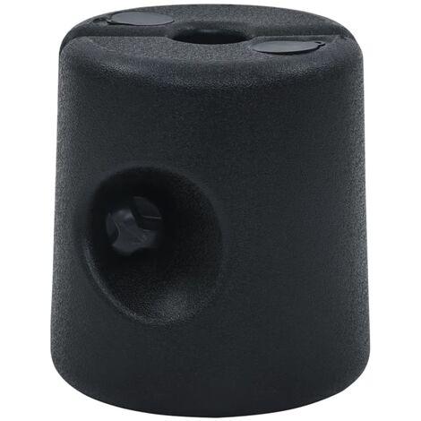 vidaXL Gazebo Weights 4 pcs PE Black - Black