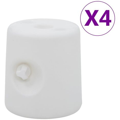 vidaXL Gazebo Weights 4 pcs PE White - White