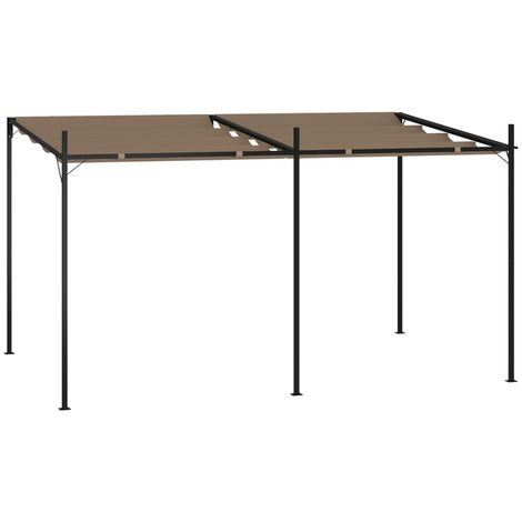 """main image of """"vidaXL Gazebo with Retractable Roof 400x300x233 cm Taupe - Taupe"""""""