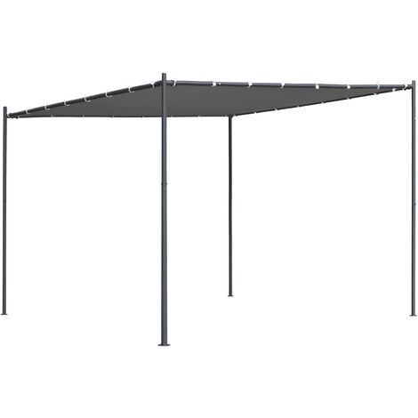 vidaXL Gazebo with Slanted Roof 300x300x251 cm Anthracite 180 g/m² - Anthracite
