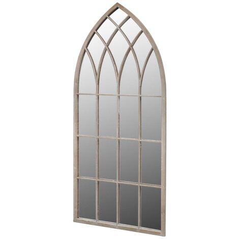 "main image of ""vidaXL Rustic Arch Garden Mirror for Indoor and Outdoor Use 60x116 cm"""