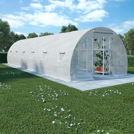 vidaXL Greenhouse 27m² 900x300x200 cm - White