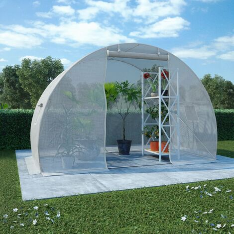 vidaXL Greenhouse 4.5m² 300x150x200 cm - White