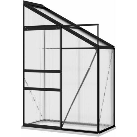 vidaXL Greenhouse Anthracite Aluminium 1.44 m³ - Anthracite