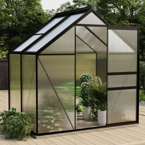 vidaXL Greenhouse Anthracite Aluminium 2.47 m² - Anthracite