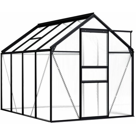 vidaXL Greenhouse Anthracite Aluminium 4.75 m² - Anthracite