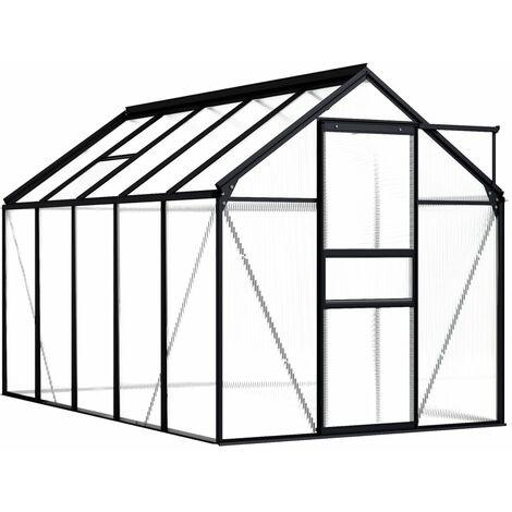 vidaXL Greenhouse Anthracite Aluminium 5.89 m² - Anthracite