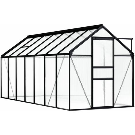 vidaXL Greenhouse Anthracite Aluminium 8.17 m² - Anthracite
