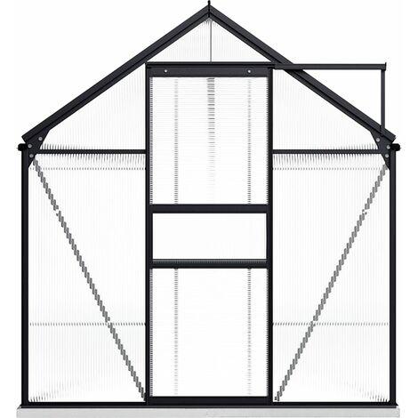 vidaXL Greenhouse with Base Frame Anthracite Aluminium 9.31 m² - Anthracite