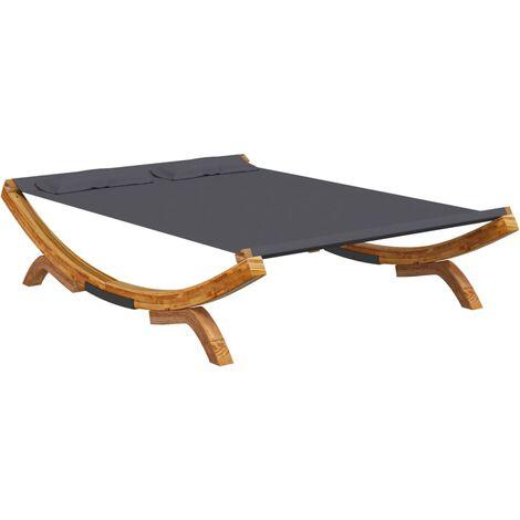 vidaXL Hamaca de madera maciza de abeto gris antracita 165x188,5x46 cm - Antracita