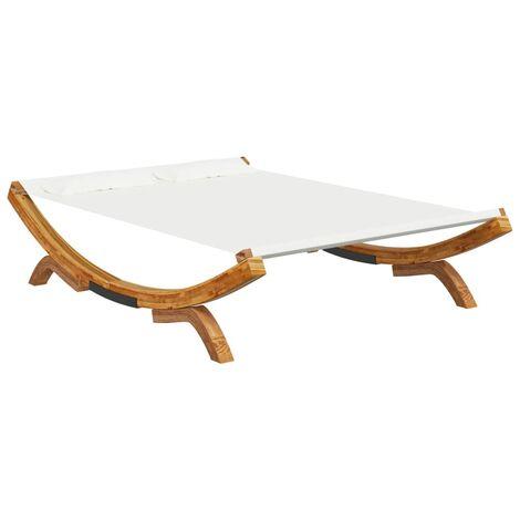 vidaXL Hamaca madera maciza de abeto crema 165x188,5x46 cm - Crema