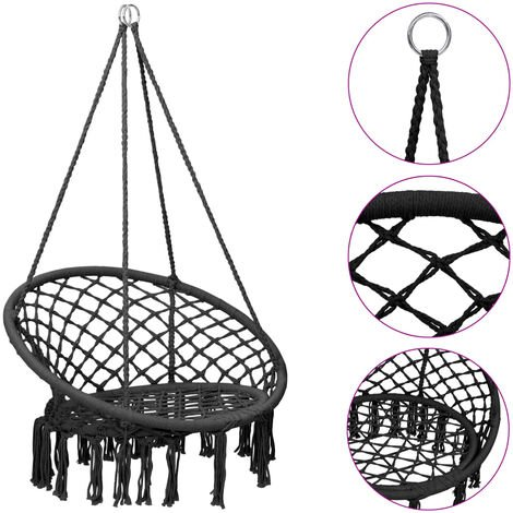 vidaXL Hammock Swing Chair 80 cm Anthracite - Anthracite