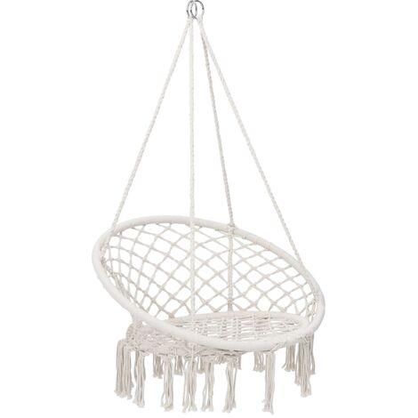 vidaXL Hammock Swing Chair 80 cm Beige - Beige