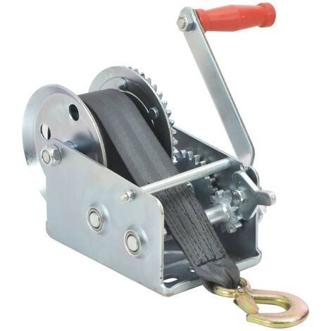 """main image of """"vidaXL Hand Winch with Strap 1130 kg - Silver"""""""