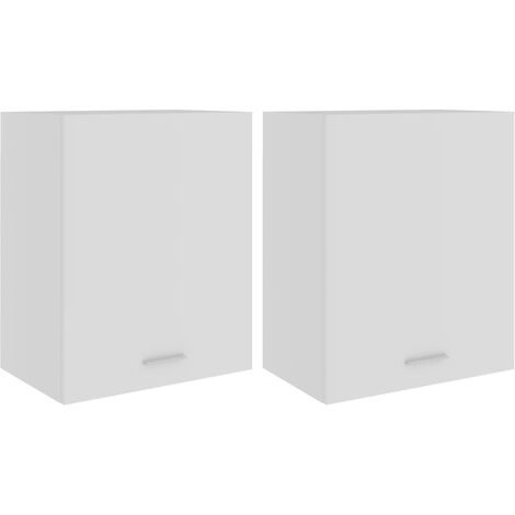 vidaXL Hanging Cabinets 2 pcs White 50x31x60 cm Chipboard - White