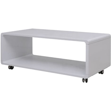 vidaXL High Gloss Coffee Table Restaurant Shop Kitchen Dinner Room Living Room Accent End Side Couch Tea Telephone Stand Furniture Multi Colours