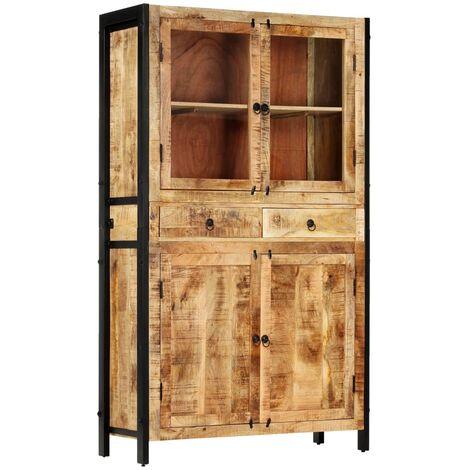 vidaXL Highboard 100x40x175 cm Side Cabinet Storage Cupboard Sideboard Wooden Cabinet Home Living Room Bedroom Furniture Multi Materials