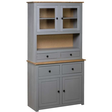 """main image of """"vidaXL Solid Pine Panama Range Highboard Home Interior Decor Living Room Bedroom Furniture Solid Wood Wooden Furniture Cabinet Chest Multi Colours"""""""