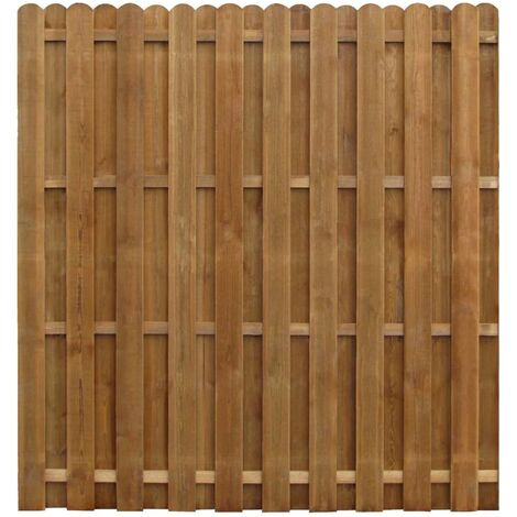 vidaXL Hit and Miss Fence Panel Impregnated Pinewood 170x170 cm - Brown