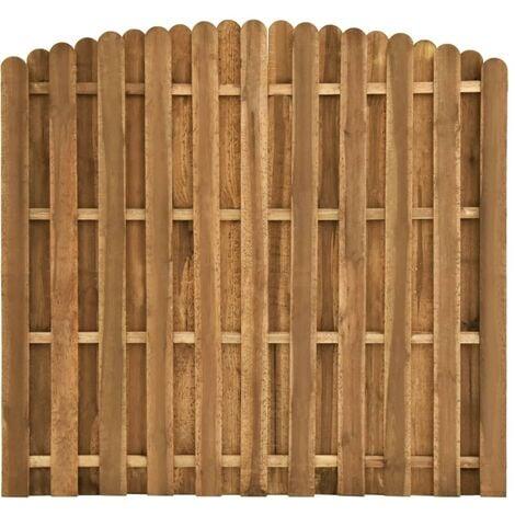 vidaXL Hit and Miss Fence Panel Pinewood 180x(155-170) cm - Brown