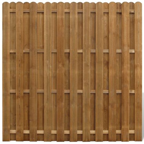 """main image of """"vidaXL Hit and Miss Fence Panel Pinewood 180x180 cm - Brown"""""""
